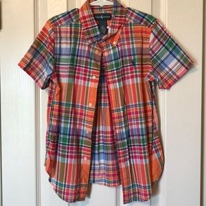 Polo button up short sleeved